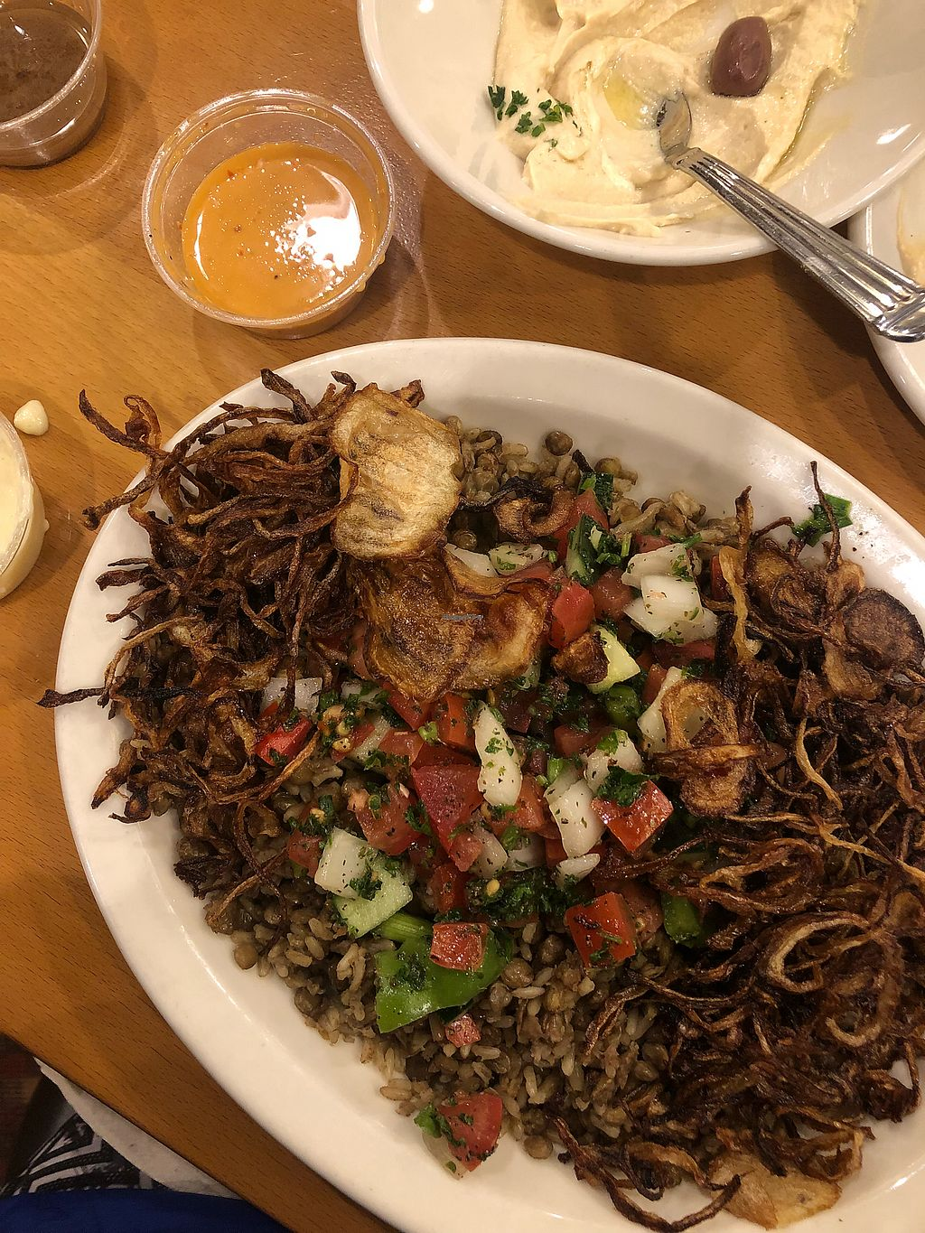 "Photo of Aladdin's Eatery  by <a href=""/members/profile/Jaclynch_eats"">Jaclynch_eats</a> <br/>Mujadara plate <br/> March 15, 2018  - <a href='/contact/abuse/image/35832/371050'>Report</a>"