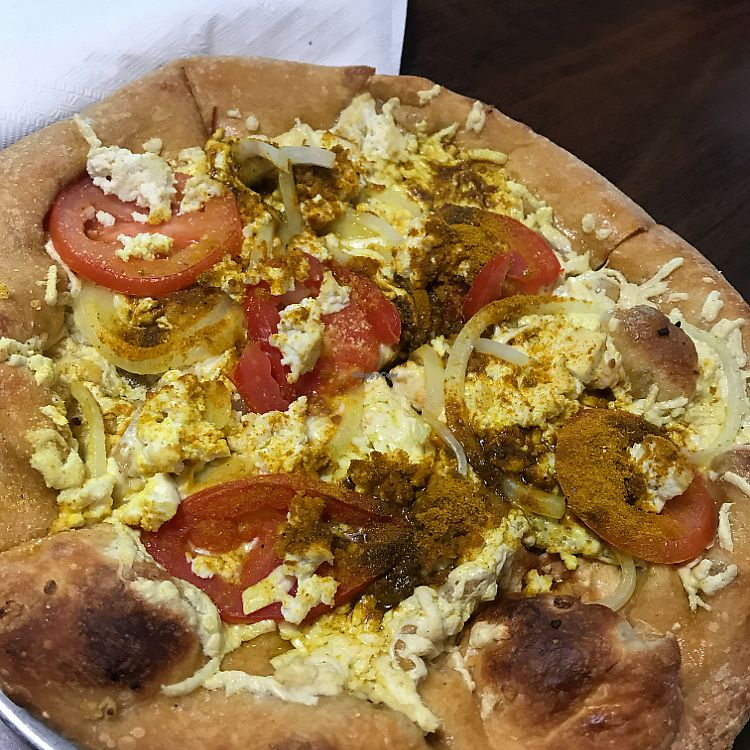 "Photo of Mellow Mushroom  by <a href=""/members/profile/kjconrad88"">kjconrad88</a> <br/>Vegan Thai-Dye Pizza <br/> June 22, 2017  - <a href='/contact/abuse/image/35833/272445'>Report</a>"
