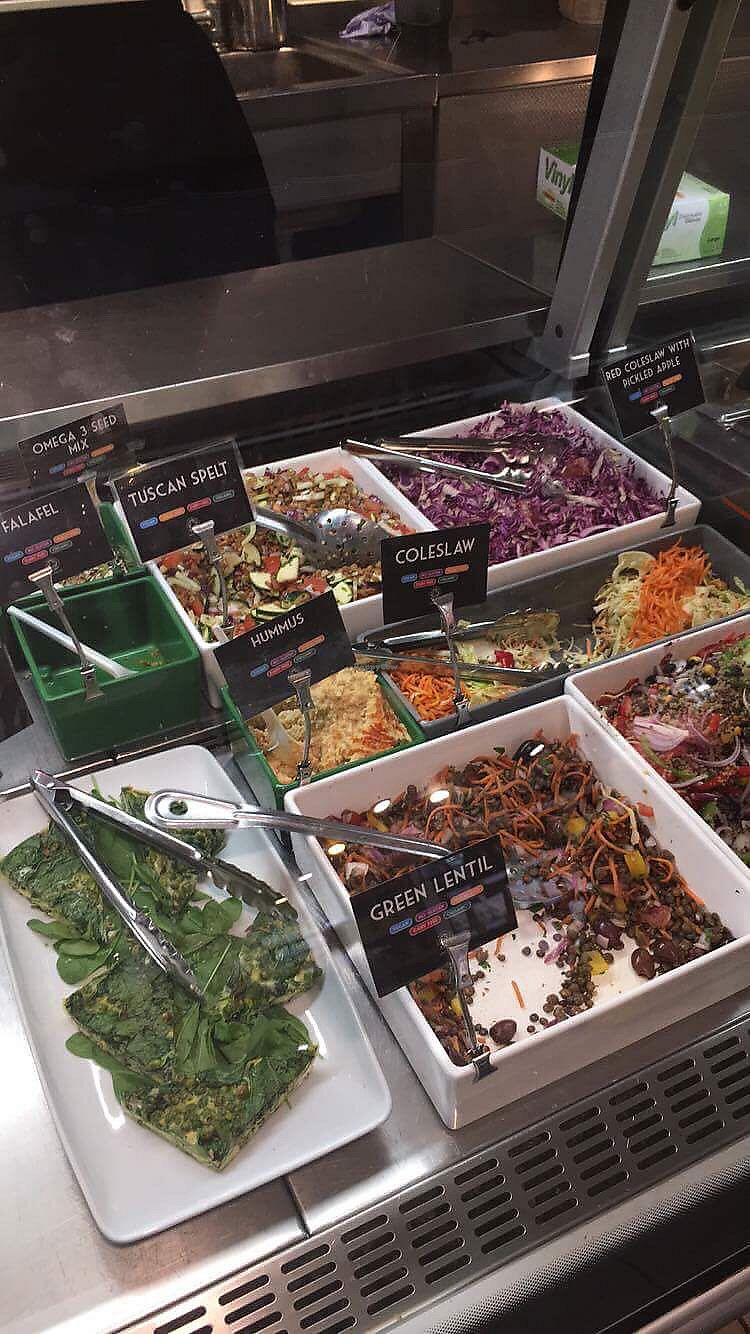 """Photo of Planet Organic - Torrington Place  by <a href=""""/members/profile/danielaj"""">danielaj</a> <br/>salad bar in Westbourne Grove store <br/> August 1, 2017  - <a href='/contact/abuse/image/3583/287628'>Report</a>"""