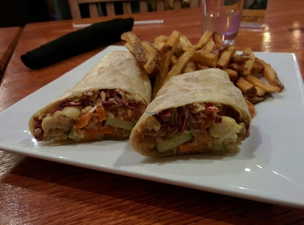 "Photo of The Organic Grill  by <a href=""/members/profile/alexandra_vegan"">alexandra_vegan</a> <br/>Thai wrap with fries <br/> December 2, 2016  - <a href='/contact/abuse/image/35849/196674'>Report</a>"