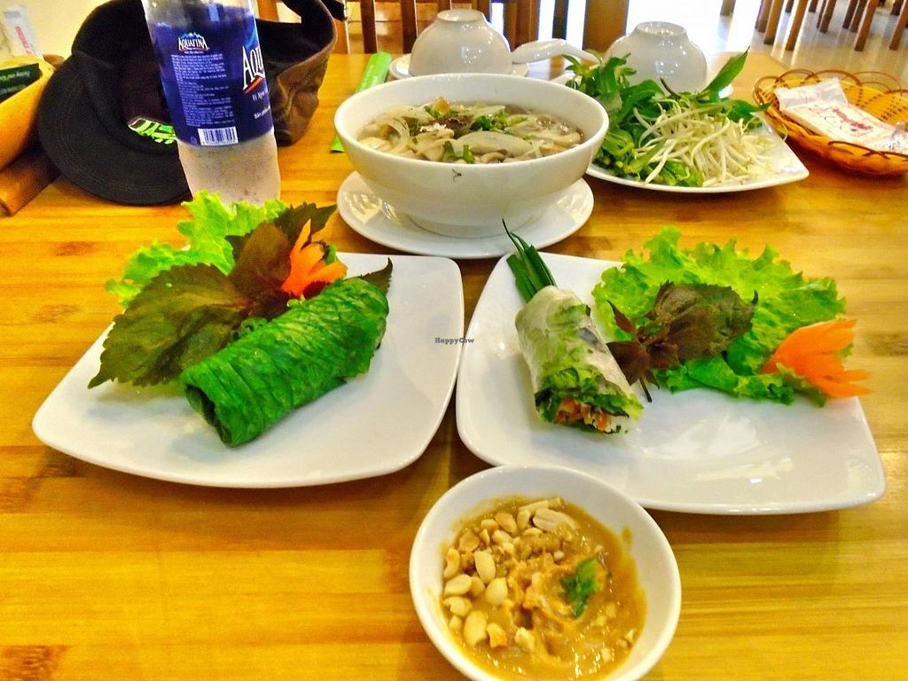 """Photo of Huong Sen Vegetarian - Bui Vien St  by <a href=""""/members/profile/cookytrix"""">cookytrix</a> <br/>i hope this type of thing catches on in vietnam. they have plenty of produce here <br/> December 6, 2014  - <a href='/contact/abuse/image/35854/87377'>Report</a>"""