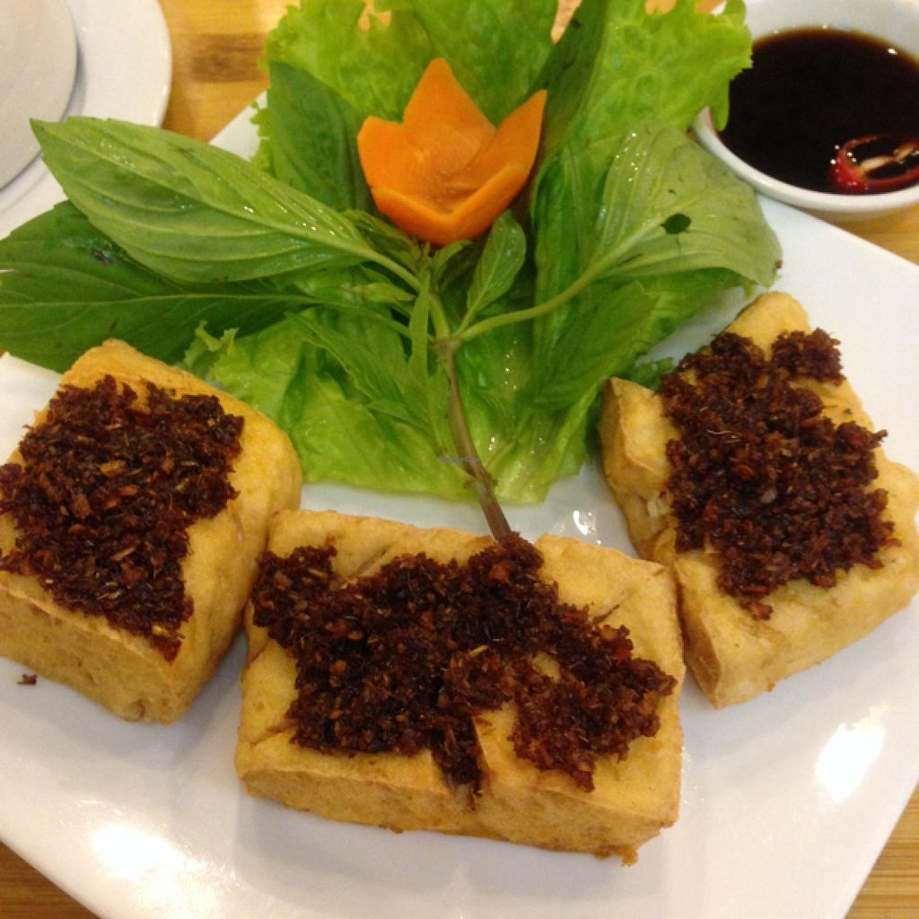 "Photo of Huong Sen Vegetarian - Bui Vien St  by <a href=""/members/profile/VeganBiker"">VeganBiker</a> <br/>Lemongrass Tofu <br/> January 26, 2015  - <a href='/contact/abuse/image/35854/91433'>Report</a>"