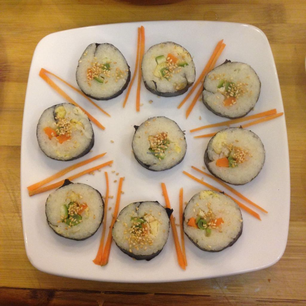 """Photo of Huong Sen Vegetarian - Bui Vien St  by <a href=""""/members/profile/Ellie143"""">Ellie143</a> <br/>Sushi with avocado, tofu, carrot etc <br/> February 2, 2015  - <a href='/contact/abuse/image/35854/92037'>Report</a>"""