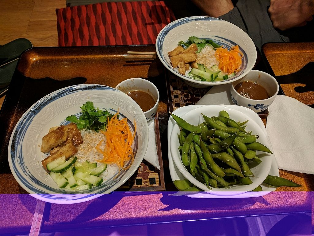 "Photo of Roji Tea Lounge  by <a href=""/members/profile/CelestialSpryte"">CelestialSpryte</a> <br/>Noodles with peanut sauce! And Edamame on side! <br/> September 28, 2017  - <a href='/contact/abuse/image/35858/309256'>Report</a>"