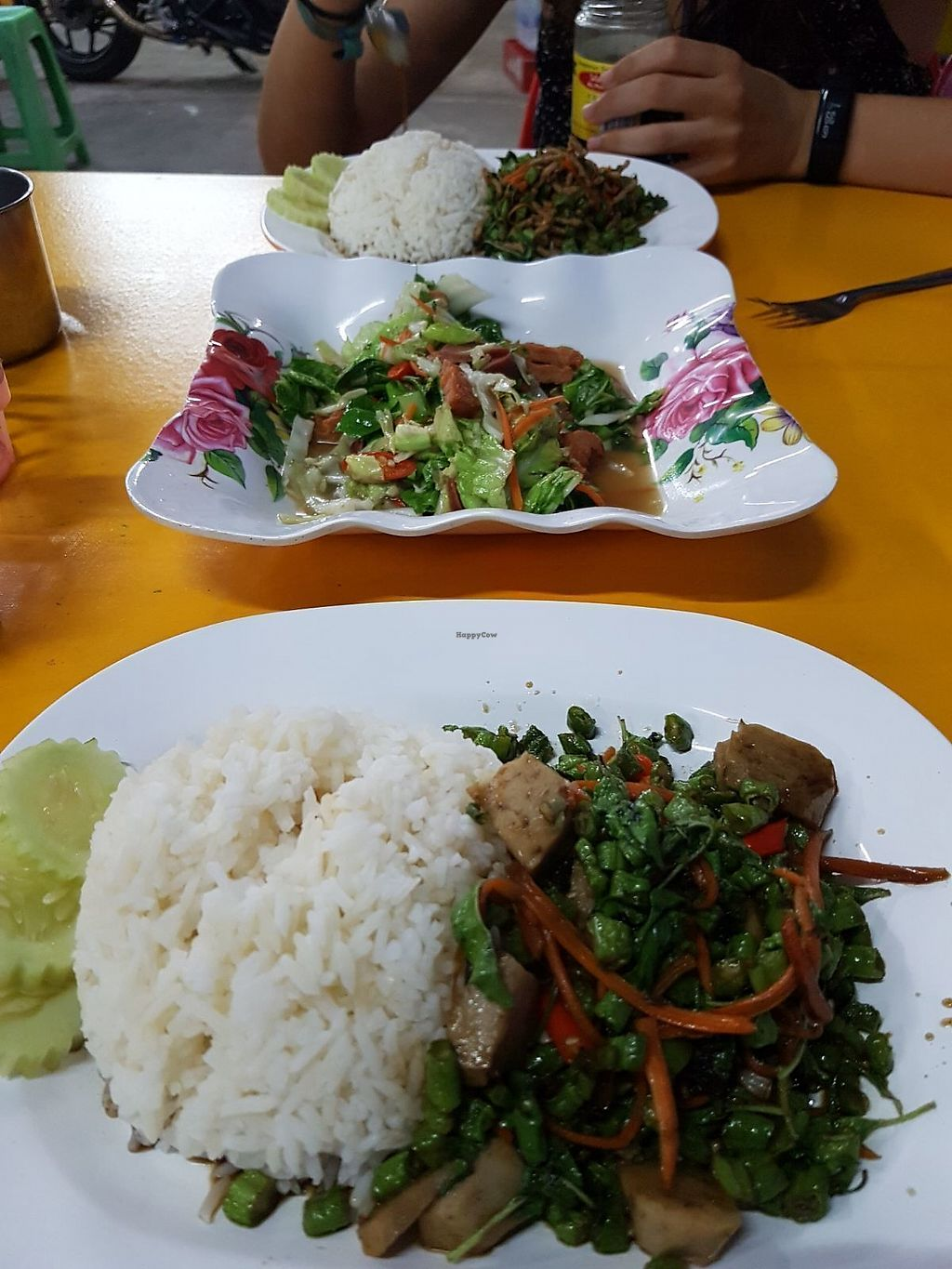 "Photo of Nong Jay  by <a href=""/members/profile/vegatleticas"">vegatleticas</a> <br/>Rice with veggies, mock meat and salad <br/> February 22, 2018  - <a href='/contact/abuse/image/35860/362303'>Report</a>"