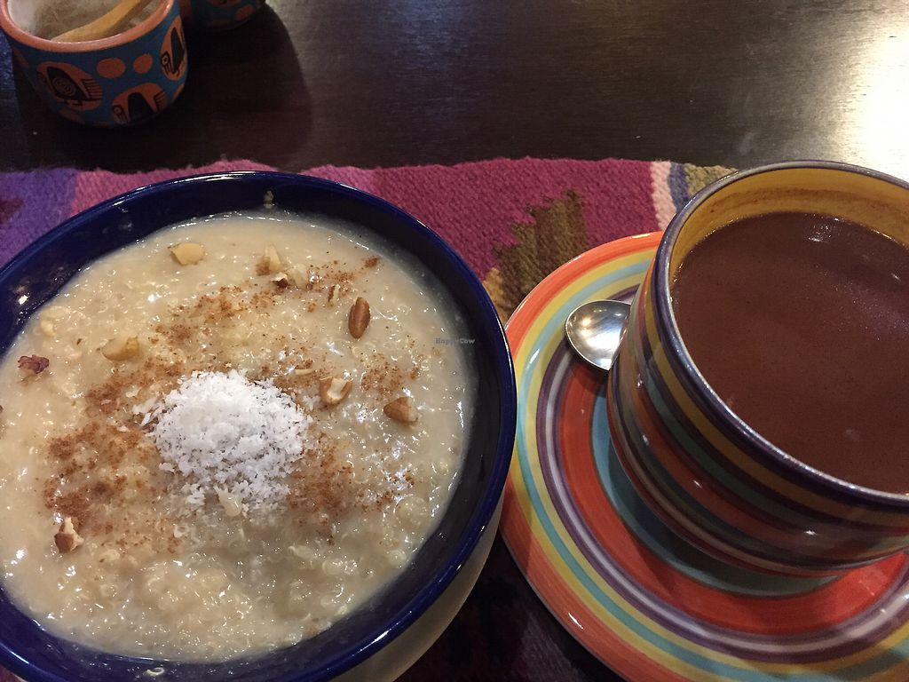 """Photo of Shaman Restaurant  by <a href=""""/members/profile/Dianebg"""">Dianebg</a> <br/>Quinoa porridge and hot chocolate, yum!  <br/> October 17, 2017  - <a href='/contact/abuse/image/35868/316142'>Report</a>"""