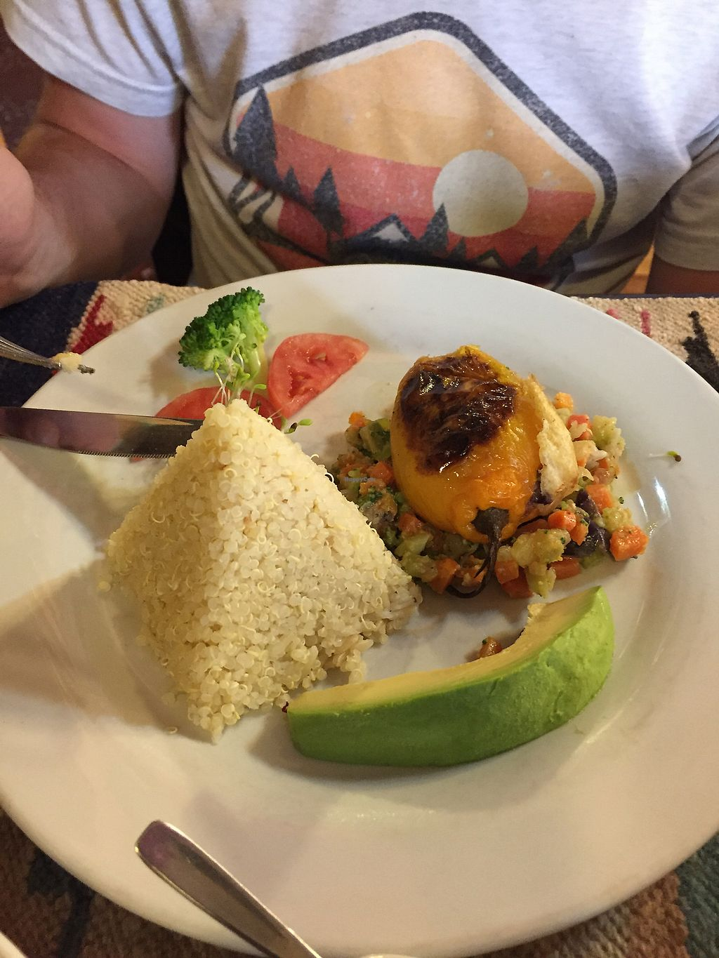 """Photo of Shaman Restaurant  by <a href=""""/members/profile/Dianebg"""">Dianebg</a> <br/>Rocoto relleno (stuffed capsicum / pepper) <br/> October 17, 2017  - <a href='/contact/abuse/image/35868/316151'>Report</a>"""