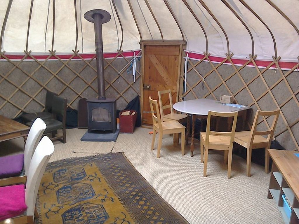 """Photo of The Green Place  by <a href=""""/members/profile/springy77"""">springy77</a> <br/>Inside the cosy yurt <br/> July 11, 2016  - <a href='/contact/abuse/image/35870/159177'>Report</a>"""