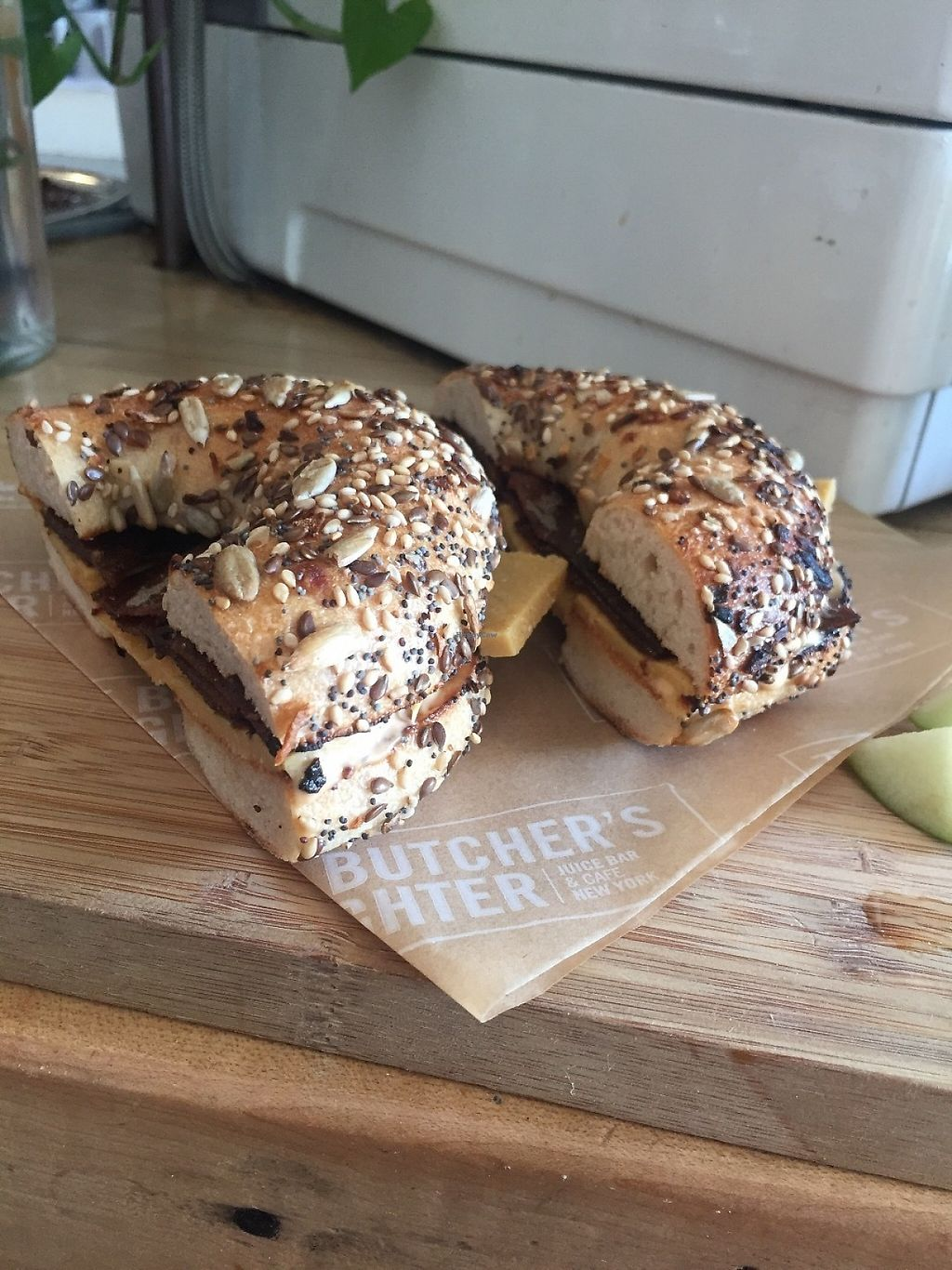 """Photo of The Butcher's Daughter - Nolita  by <a href=""""/members/profile/KaitlynnGill"""">KaitlynnGill</a> <br/>Breakfast bagel <br/> May 2, 2017  - <a href='/contact/abuse/image/35872/254985'>Report</a>"""