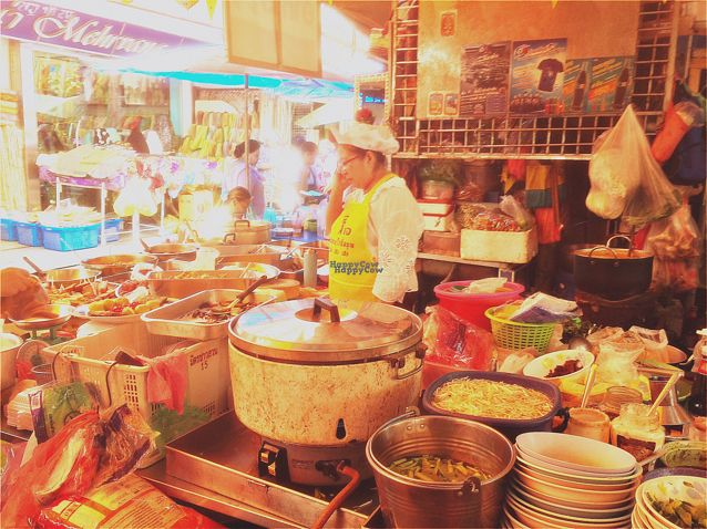 """Photo of Vegan Thai Food Stalls  by <a href=""""/members/profile/EtaCarinae"""">EtaCarinae</a> <br/>Vegan Thai Street Kitchen Lunch. Delicious.  <br/> September 27, 2016  - <a href='/contact/abuse/image/35874/178187'>Report</a>"""