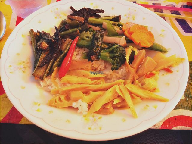 """Photo of Vegan Thai Food Stalls  by <a href=""""/members/profile/EtaCarinae"""">EtaCarinae</a> <br/>Vegan Thai Street Kitchen Lunch. Delicious.  <br/> September 27, 2016  - <a href='/contact/abuse/image/35874/178188'>Report</a>"""