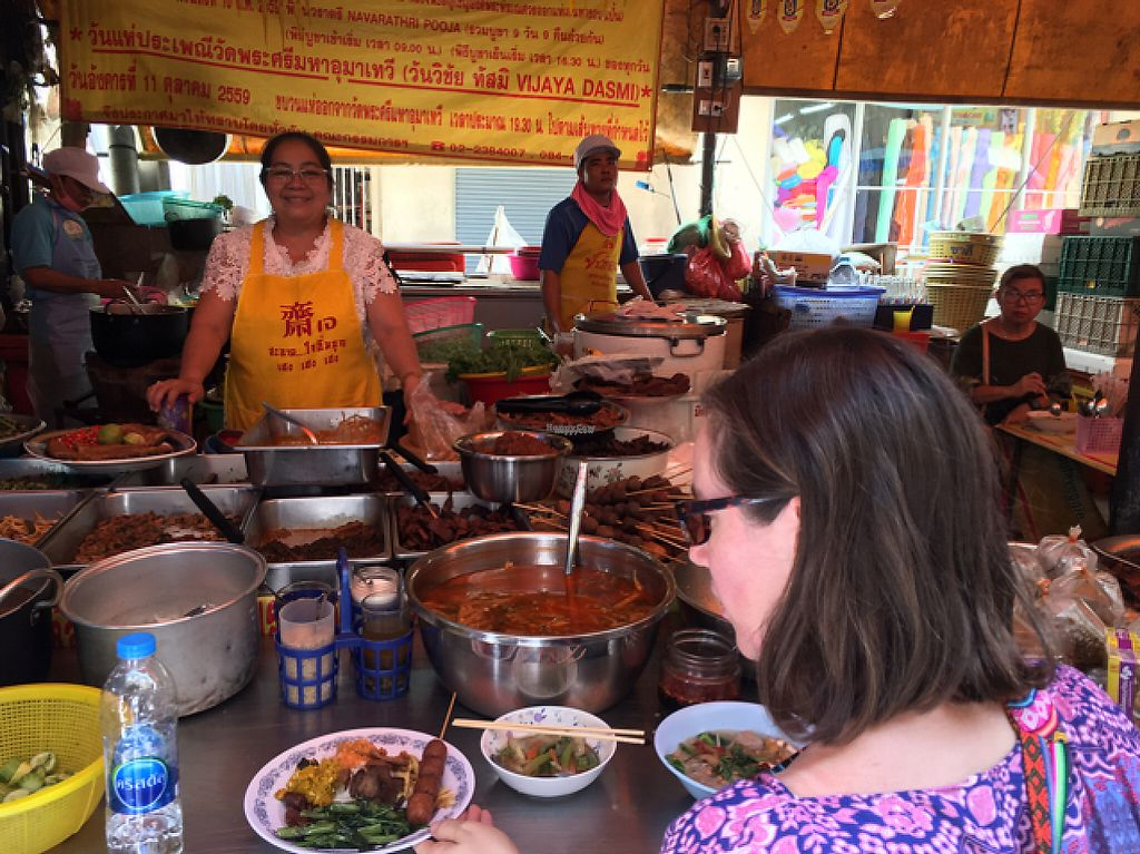 """Photo of Vegan Thai Food Stalls  by <a href=""""/members/profile/happycyclist"""">happycyclist</a> <br/>the main chef was so friendly <br/> February 1, 2017  - <a href='/contact/abuse/image/35874/220519'>Report</a>"""