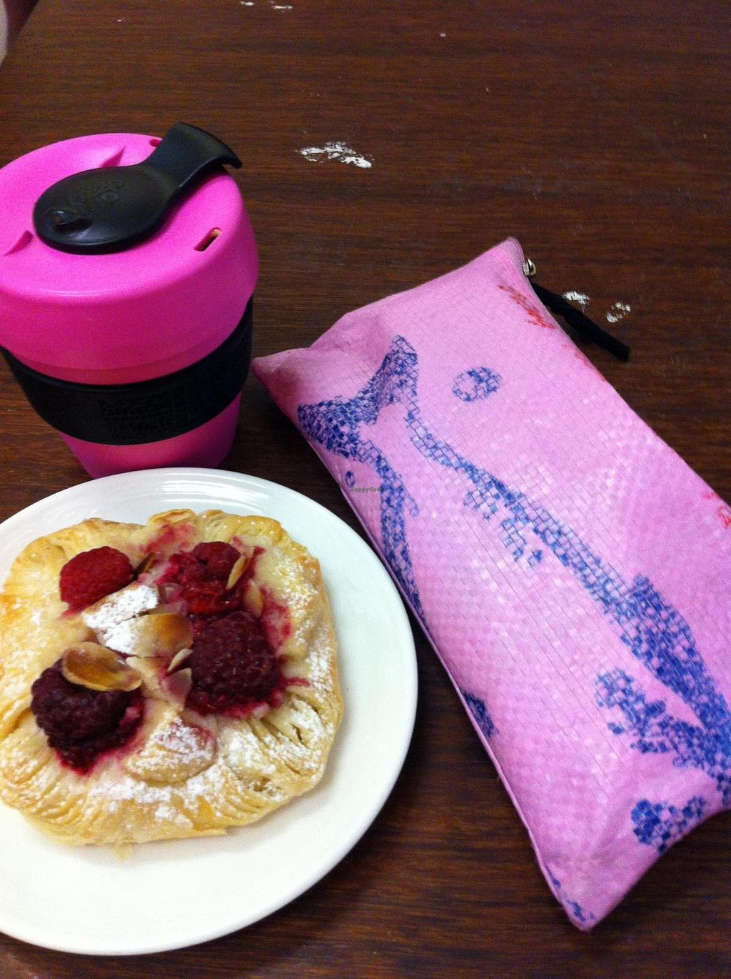 """Photo of Crumbs Organic Bakehouse  by <a href=""""/members/profile/beancurdled"""">beancurdled</a> <br/>raspberry and almond danish (with matching accessories) <br/> January 1, 2015  - <a href='/contact/abuse/image/35875/89265'>Report</a>"""