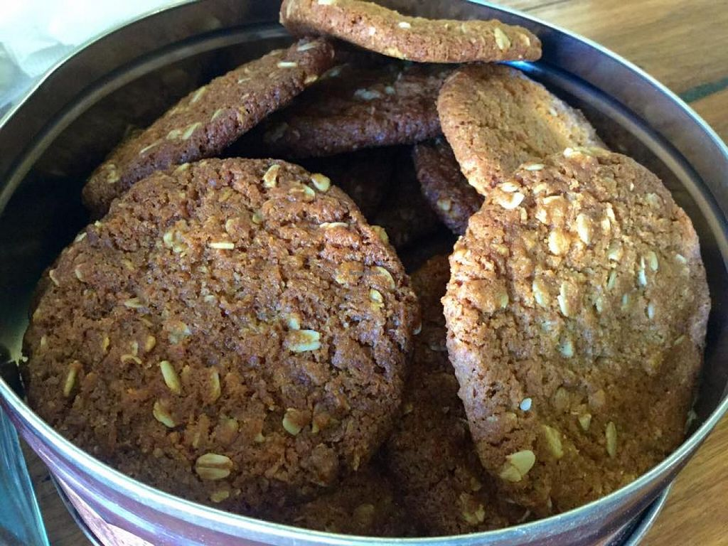 """Photo of Crumbs Organic Bakehouse  by <a href=""""/members/profile/Lea"""">Lea</a> <br/>Anzac biccies <br/> February 10, 2015  - <a href='/contact/abuse/image/35875/92768'>Report</a>"""