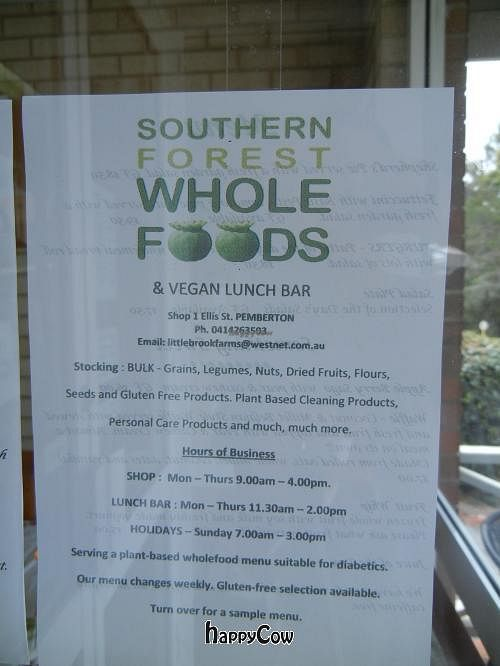 "Photo of CLOSED: Southern Forest Whole Foods  by <a href=""/members/profile/pconroy"">pconroy</a> <br/>Sign on the door <br/> December 27, 2012  - <a href='/contact/abuse/image/35879/41994'>Report</a>"