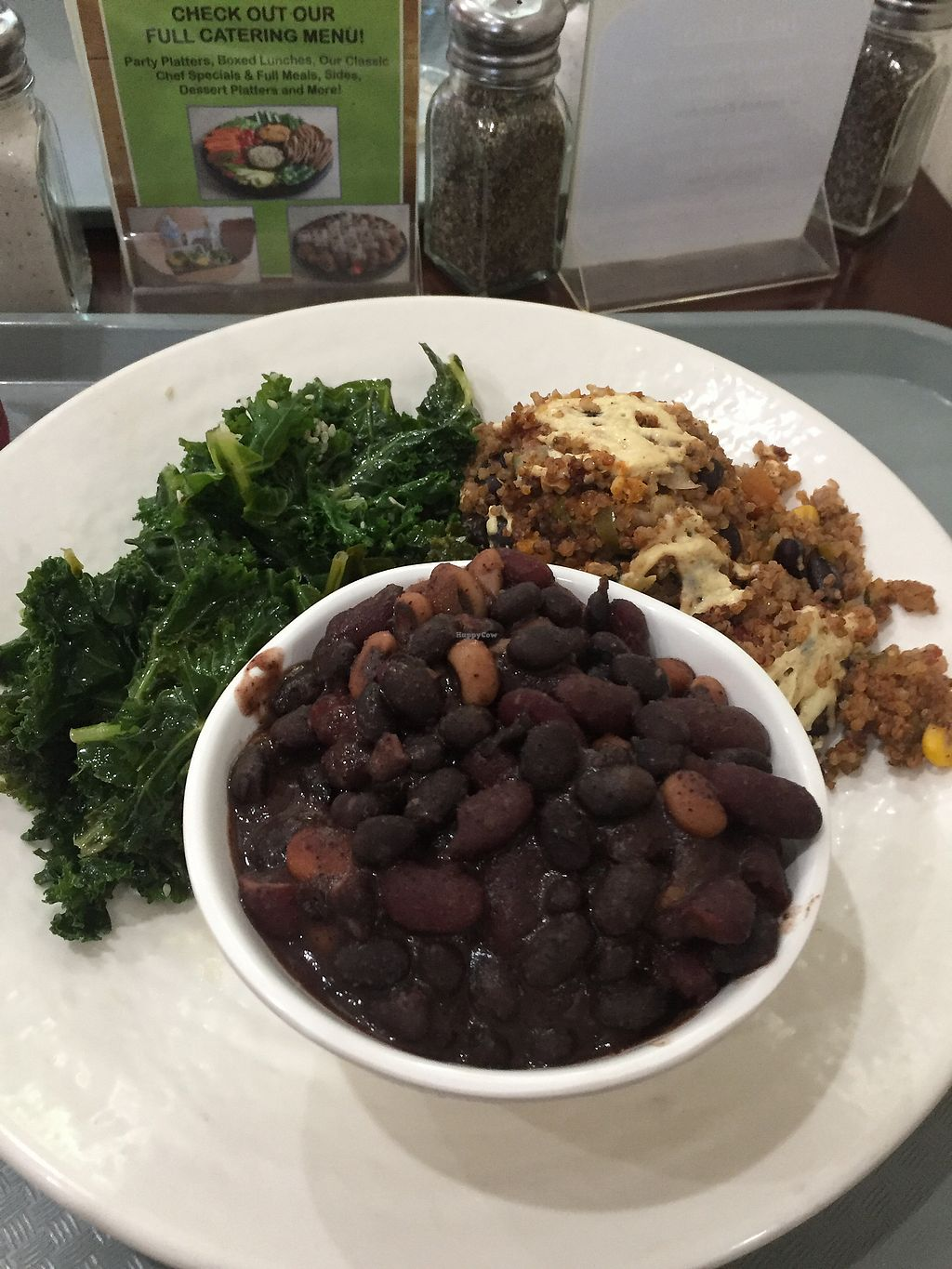 """Photo of Sunflower Cafe  by <a href=""""/members/profile/R-MV"""">R-MV</a> <br/>Kale, mixed beans, and quinoa bake <br/> July 29, 2017  - <a href='/contact/abuse/image/35881/286351'>Report</a>"""
