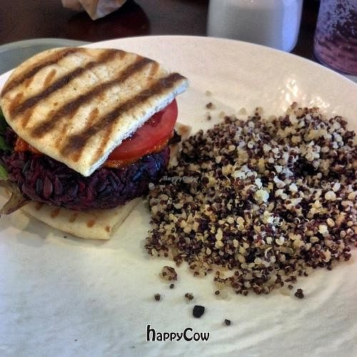 Photo of Sunflower Cafe  by JessicaSirabella <br/>veggie burger and quinoa! <br/> June 11, 2013  - <a href='/contact/abuse/image/35881/49459'>Report</a>
