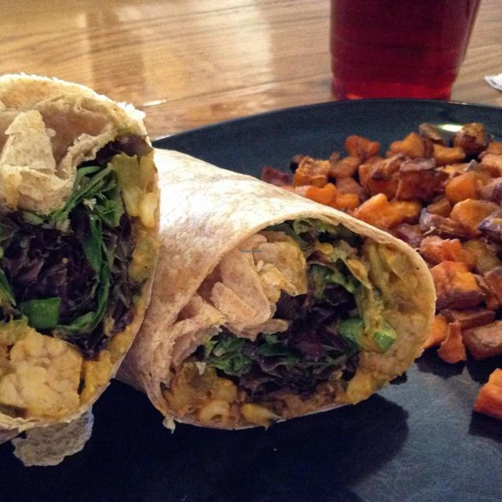 """Photo of Green Sage Cafe - South  by <a href=""""/members/profile/Julie%20R"""">Julie R</a> <br/>Vegan curry wrap with tempeh and cashews.  Soooo good!  <br/> October 18, 2014  - <a href='/contact/abuse/image/35892/83302'>Report</a>"""