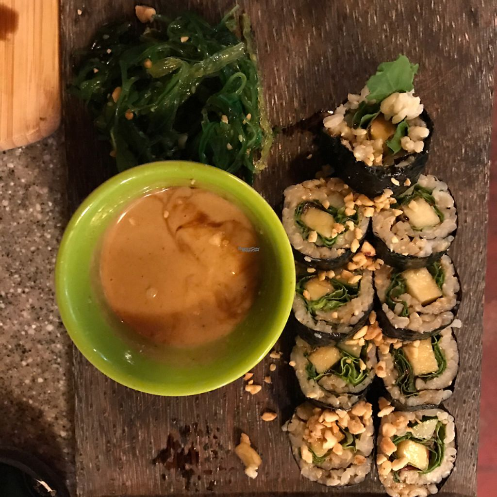 "Photo of Sushi Rock  by <a href=""/members/profile/Sarah%20P"">Sarah P</a> <br/>peanut sauce rolls <br/> December 30, 2016  - <a href='/contact/abuse/image/35926/206108'>Report</a>"