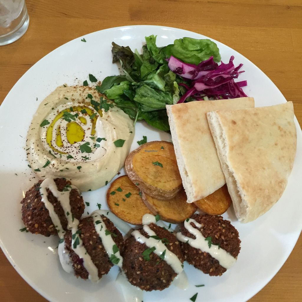 """Photo of Ta-im  by <a href=""""/members/profile/Mangoamy"""">Mangoamy</a> <br/>Set lunch A. Vegan falafel option  <br/> March 25, 2016  - <a href='/contact/abuse/image/35929/141247'>Report</a>"""