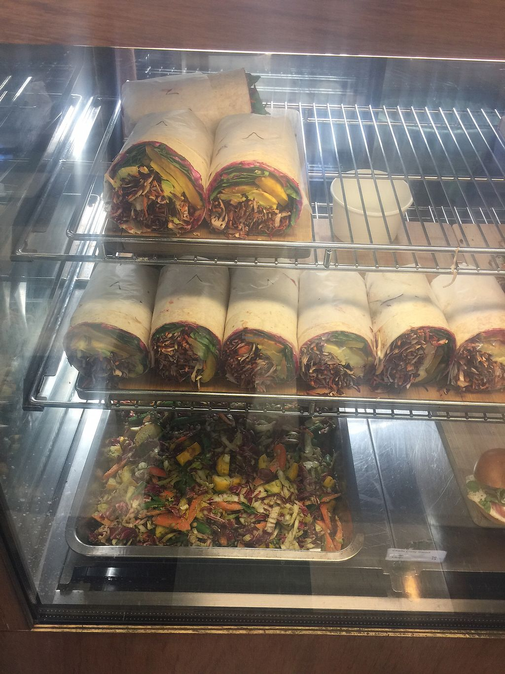 """Photo of Kokako  by <a href=""""/members/profile/Tiggy"""">Tiggy</a> <br/>Vegan wraps and salad in cabinet <br/> December 29, 2017  - <a href='/contact/abuse/image/35948/340342'>Report</a>"""