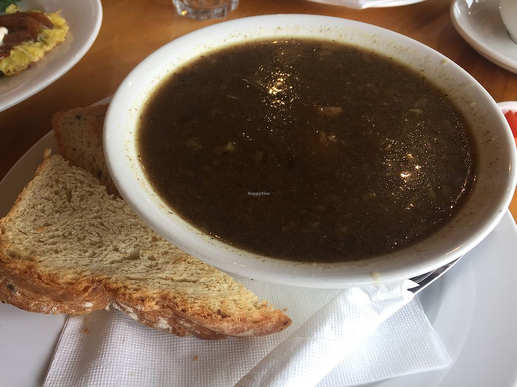 """Photo of Horopito Cafe  by <a href=""""/members/profile/Tiggy"""">Tiggy</a> <br/>Cauliflower soup and toast $12.50 - Bordering on inedible  <br/> January 21, 2018  - <a href='/contact/abuse/image/35982/349231'>Report</a>"""