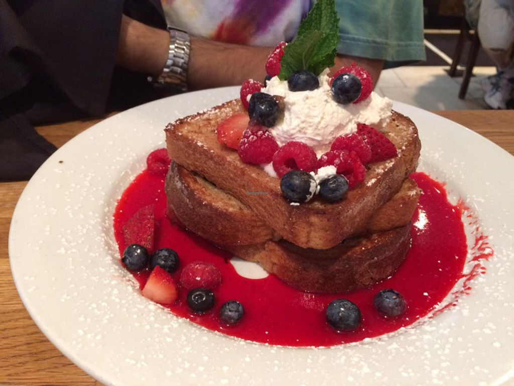 "Photo of Green Eggs Cafe  by <a href=""/members/profile/veggiehobbit"">veggiehobbit</a> <br/>vegan french toast <br/> July 5, 2015  - <a href='/contact/abuse/image/35994/108288'>Report</a>"