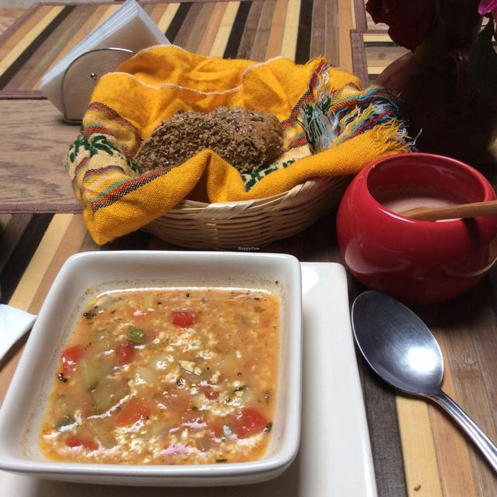 "Photo of CLOSED: Centro Bharati  by <a href=""/members/profile/Tatoumei"">Tatoumei</a> <br/>veg soup with cheese, starter of the lunch set <br/> October 13, 2014  - <a href='/contact/abuse/image/36010/82847'>Report</a>"