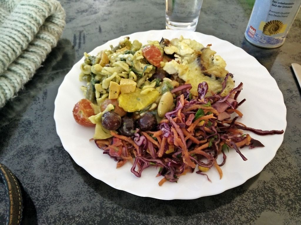 "Photo of Vita-Nova Vegetaria  by <a href=""/members/profile/Physalis"">Physalis</a> <br/>Middle sized plate of a warm dish plus 3 salads <br/> January 27, 2017  - <a href='/contact/abuse/image/36045/217893'>Report</a>"
