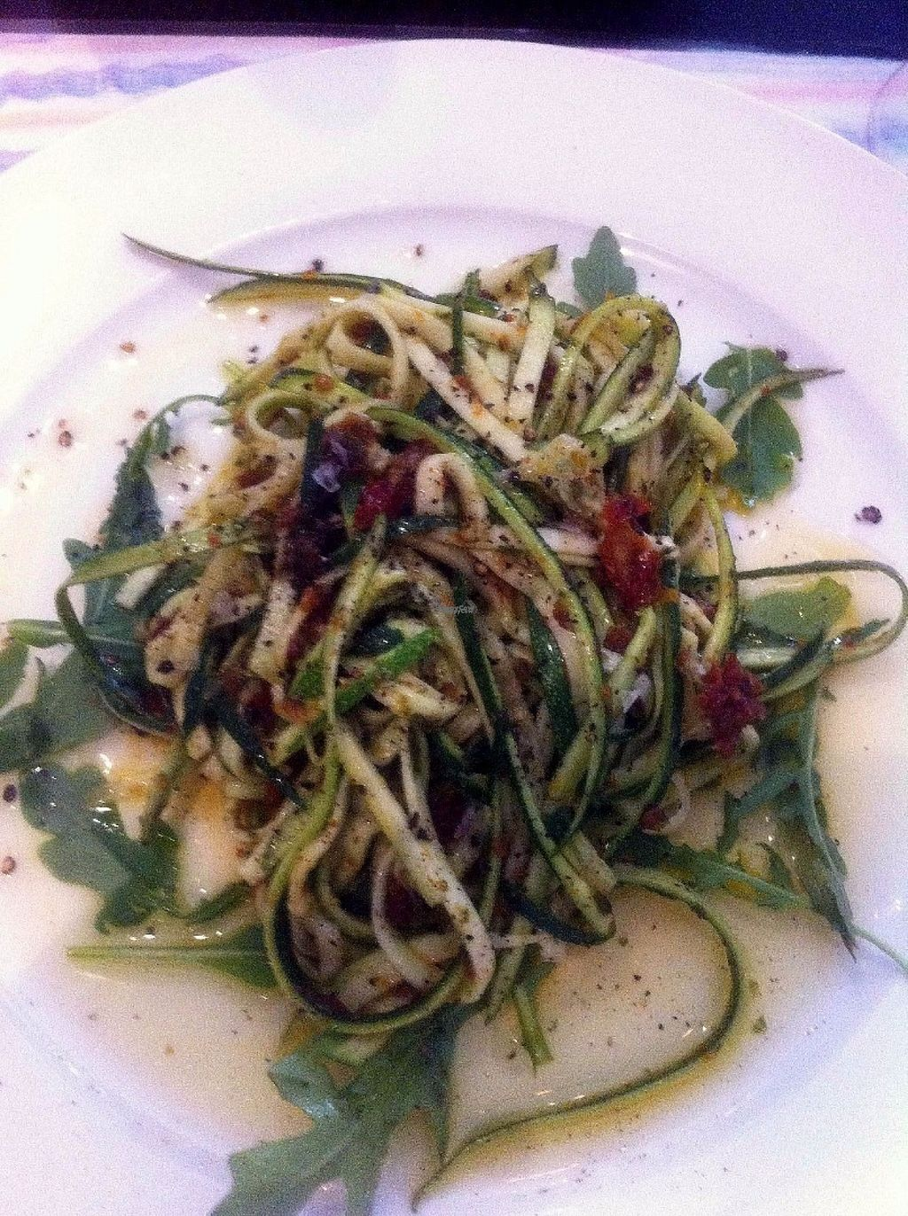 """Photo of Lady Green Bio-Vegetarian Restaurant  by <a href=""""/members/profile/fievos"""">fievos</a> <br/>Zucchini spaggheti with pesto and sundried tomatoes <br/> August 11, 2016  - <a href='/contact/abuse/image/36048/167622'>Report</a>"""
