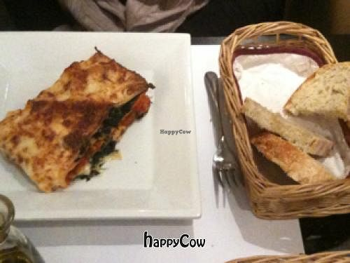 """Photo of Lady Green Bio-Vegetarian Restaurant  by <a href=""""/members/profile/JenniferKoukla"""">JenniferKoukla</a> <br/>Main Course: Vegetarian Lasagna and home made bread. Yummy <br/> January 3, 2013  - <a href='/contact/abuse/image/36048/42253'>Report</a>"""