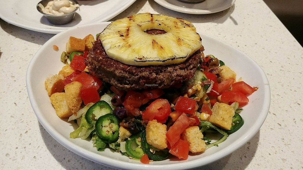 """Photo of The Counter  by <a href=""""/members/profile/judgecal"""">judgecal</a> <br/>The Impossible Burger™ on salad <br/> November 5, 2017  - <a href='/contact/abuse/image/36058/322354'>Report</a>"""