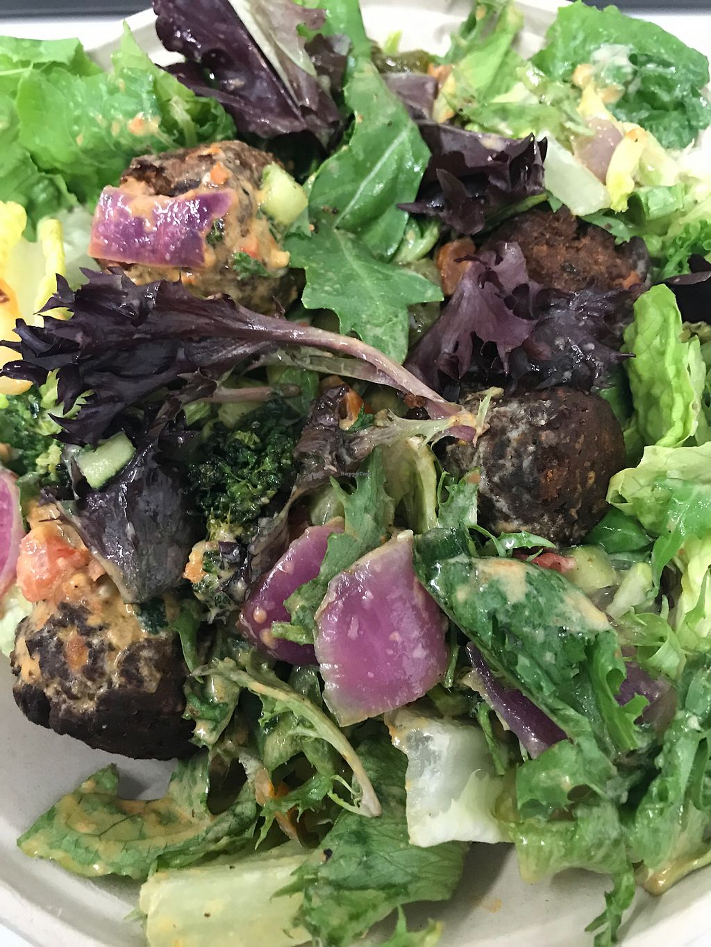 """Photo of Roti Modern Mediterranean - Randolph  by <a href=""""/members/profile/TylerMayoras"""">TylerMayoras</a> <br/>Falafel with Salad (GF and vegan) <br/> December 22, 2017  - <a href='/contact/abuse/image/36064/338121'>Report</a>"""