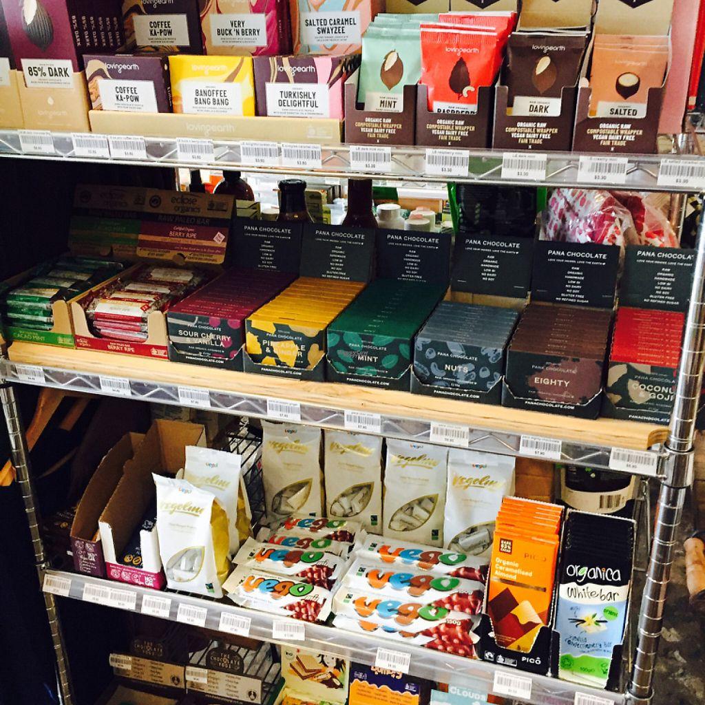 "Photo of Ecologie Organics  by <a href=""/members/profile/Yohan%20Vegan%20Soul"">Yohan Vegan Soul</a> <br/>All vegan chocolate goodness! Yummmm!! <br/> April 22, 2017  - <a href='/contact/abuse/image/36065/250823'>Report</a>"