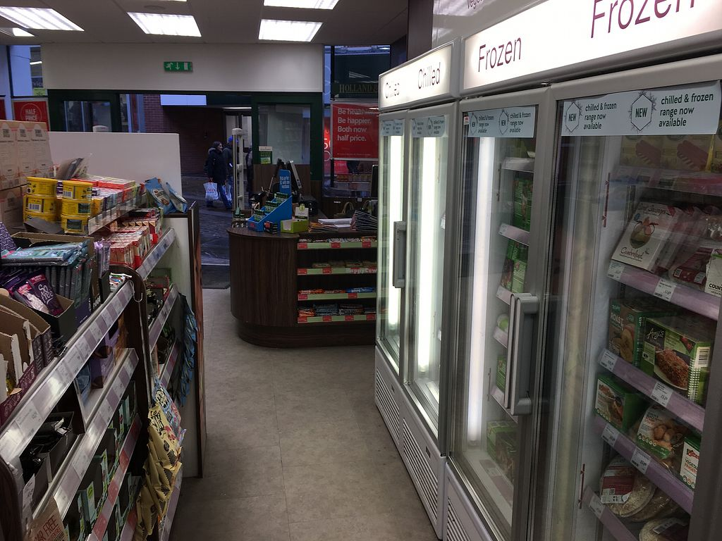 "Photo of Holland and Barrett  by <a href=""/members/profile/hack_man"">hack_man</a> <br/>Fridge & freezer section  <br/> March 31, 2018  - <a href='/contact/abuse/image/36082/378862'>Report</a>"