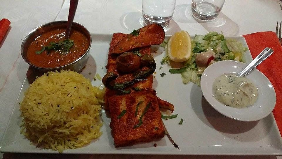 """Photo of Thali  by <a href=""""/members/profile/Coralin"""">Coralin</a> <br/>Tofu and vegetables <br/> September 20, 2017  - <a href='/contact/abuse/image/36086/306362'>Report</a>"""