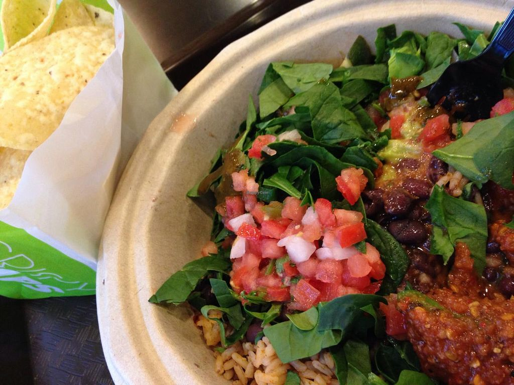 "Photo of California Tortilla  by <a href=""/members/profile/cookiem"">cookiem</a> <br/>Standard vegan fast food- American style 'burrito bowl' of the no meato burrito variety <br/> April 12, 2014  - <a href='/contact/abuse/image/36120/67543'>Report</a>"