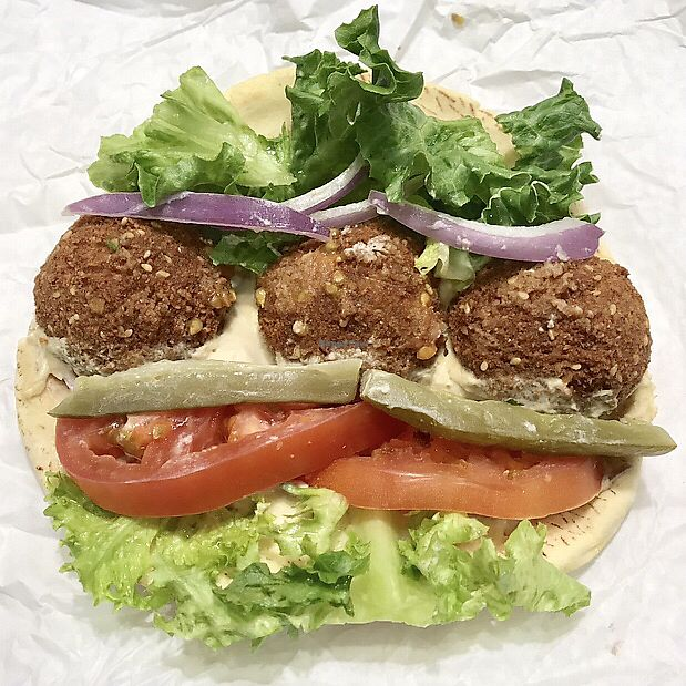 """Photo of Zayna Mediterranean  by <a href=""""/members/profile/OldPuebloVegan"""">OldPuebloVegan</a> <br/>Falafel Sandwich  <br/> March 24, 2018  - <a href='/contact/abuse/image/36129/375262'>Report</a>"""