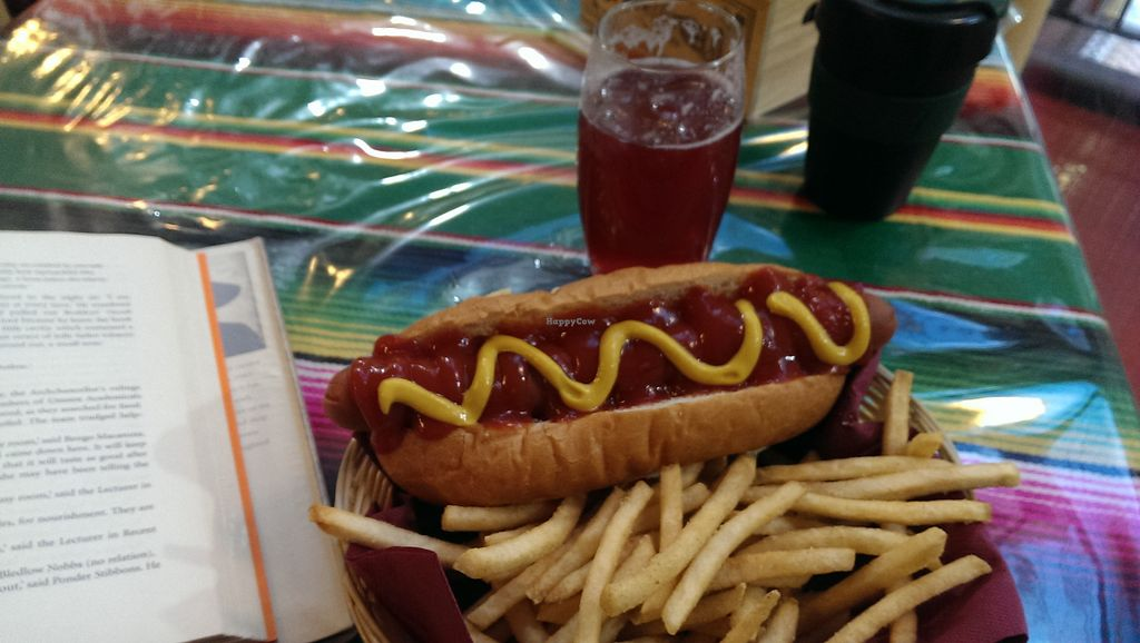 """Photo of Two-Bit Villains  by <a href=""""/members/profile/weirdunclebob"""">weirdunclebob</a> <br/>Soy dog & fries with soda <br/> July 31, 2015  - <a href='/contact/abuse/image/36150/111674'>Report</a>"""