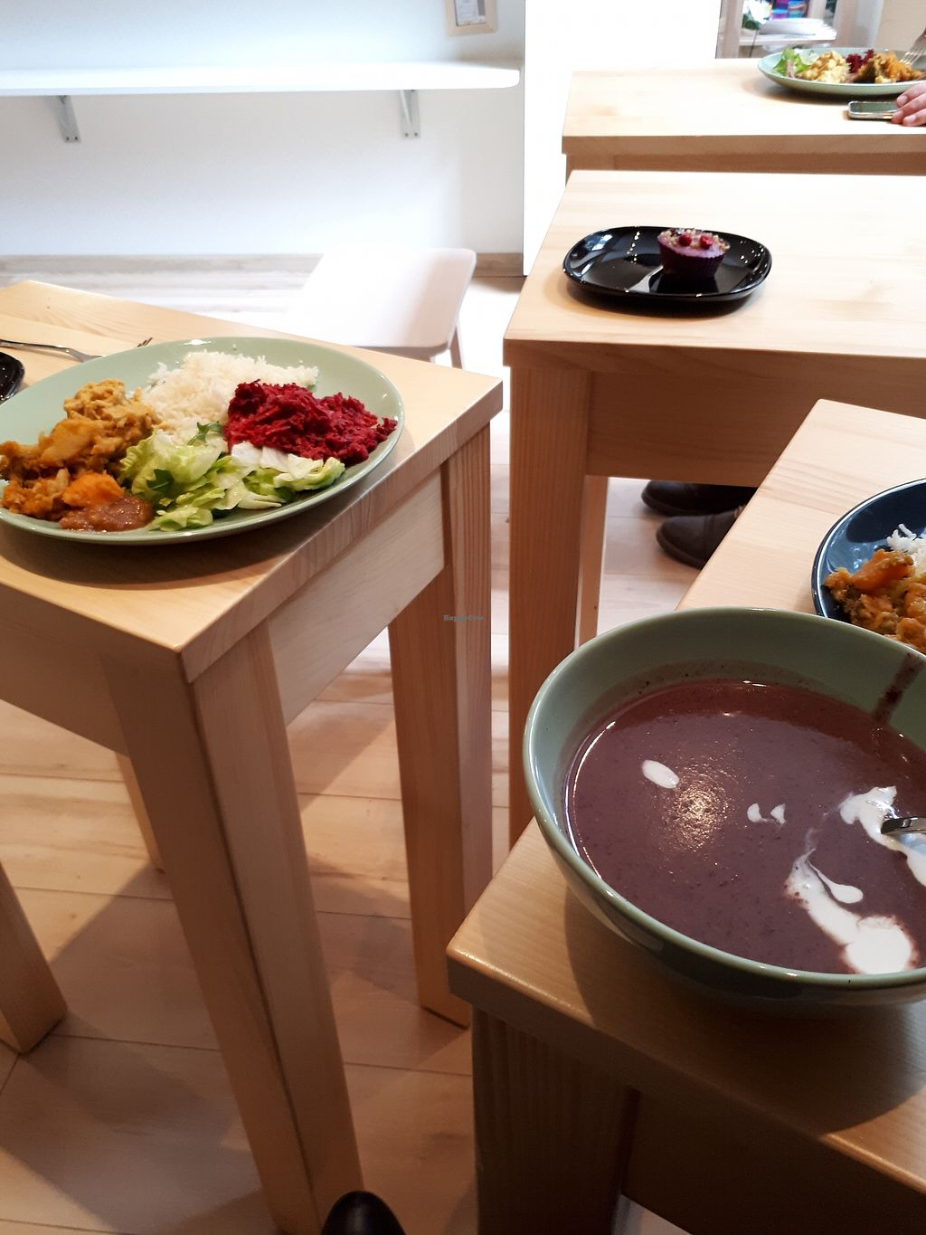 """Photo of VegFood  by <a href=""""/members/profile/TheLeisureCook"""">TheLeisureCook</a> <br/>small tables but cosy atmosphere <br/> February 25, 2018  - <a href='/contact/abuse/image/36157/363541'>Report</a>"""