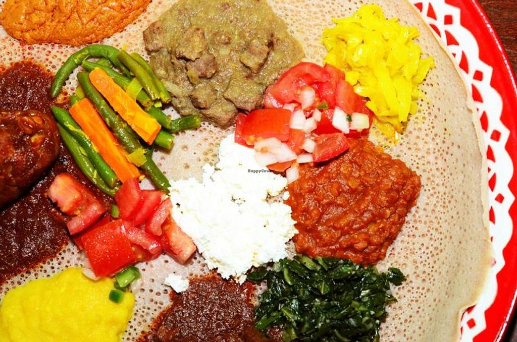 Photo of Mahider Ethiopian Restaurant  by Navegante <br/>Platter <br/> April 21, 2014  - <a href='/contact/abuse/image/36187/68184'>Report</a>