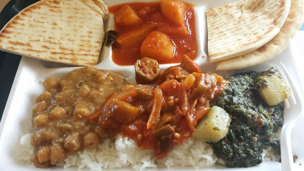 Photo of Curry in a Hurry  by Navegante <br/>Veggie combo (vegan) March 2015 <br/> March 11, 2015  - <a href='/contact/abuse/image/36190/95453'>Report</a>