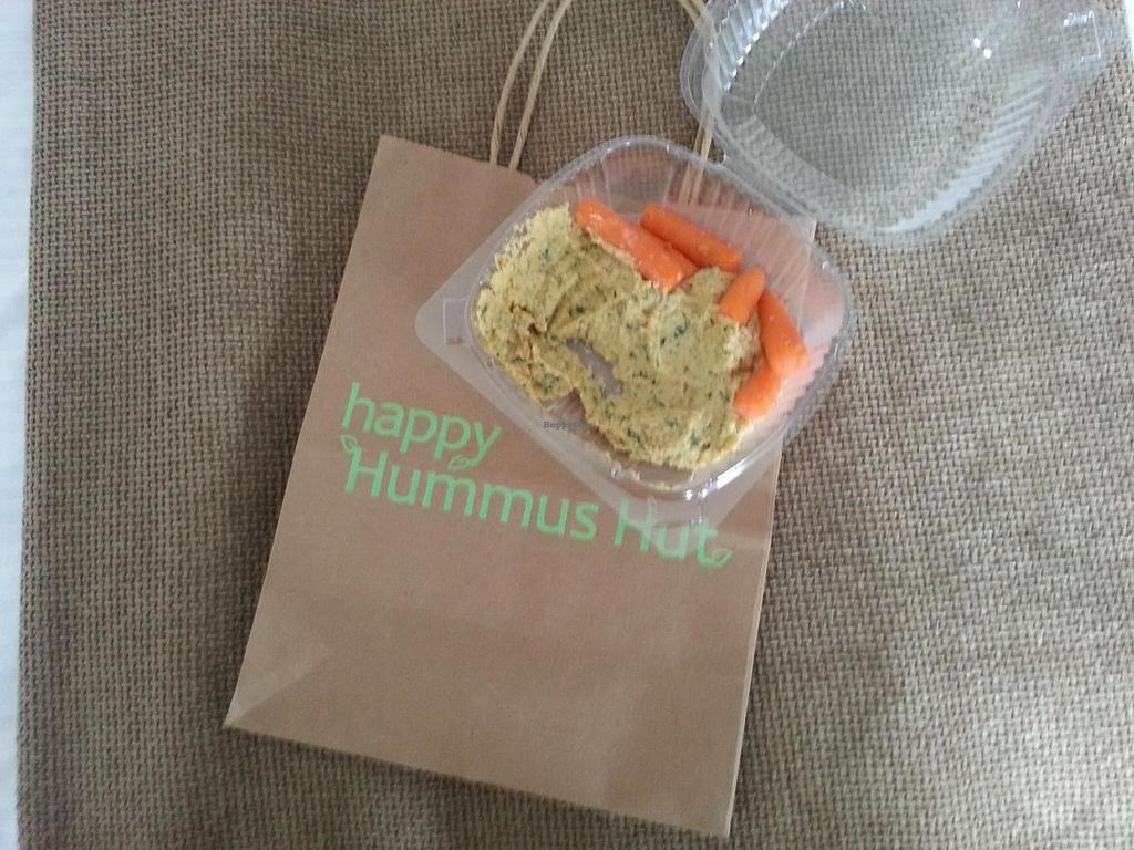 """Photo of CLOSED: Happy Hummus Hut  by <a href=""""/members/profile/Kasper"""">Kasper</a> <br/>Jolly Rancher Hummus. (Lime and Cilantro) <br/> July 11, 2014  - <a href='/contact/abuse/image/36200/73703'>Report</a>"""