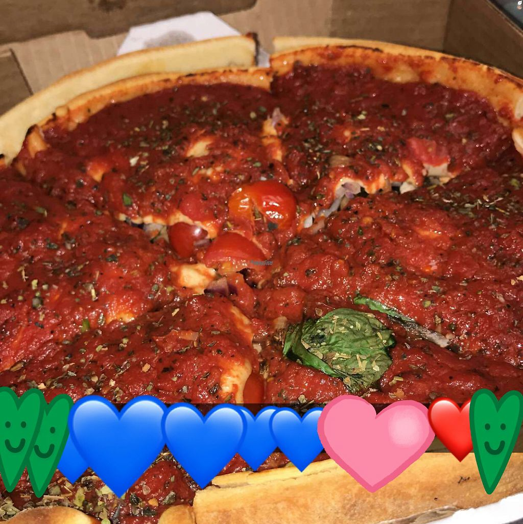 """Photo of Patxi's Pizza  by <a href=""""/members/profile/DiamondPeters"""">DiamondPeters</a> <br/>Hands down best vegan pizza ever!  <br/> April 26, 2017  - <a href='/contact/abuse/image/36210/252812'>Report</a>"""