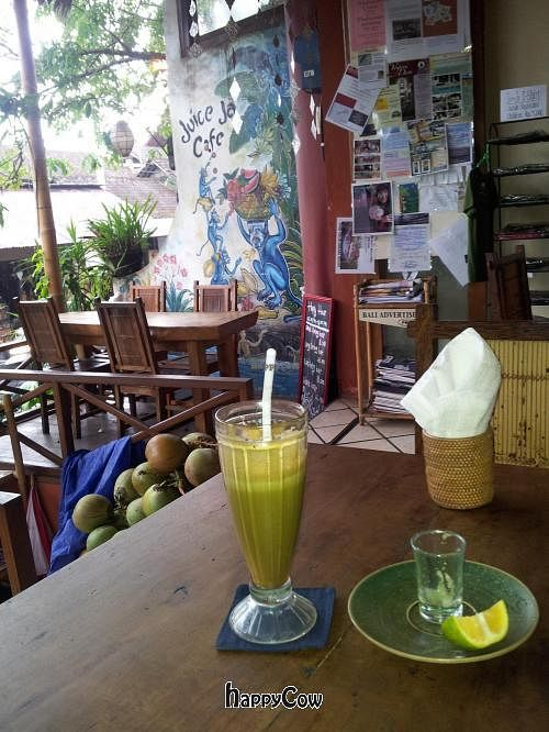 "Photo of Juice Ja Cafe  by <a href=""/members/profile/cocoholic"">cocoholic</a> <br/>Fresh green juice <br/> January 11, 2013  - <a href='/contact/abuse/image/36218/42713'>Report</a>"