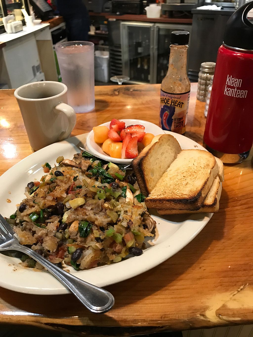 """Photo of Driftwood Cafe  by <a href=""""/members/profile/SerranoLover"""">SerranoLover</a> <br/>breakfast at the counter <br/> January 6, 2018  - <a href='/contact/abuse/image/36222/343455'>Report</a>"""