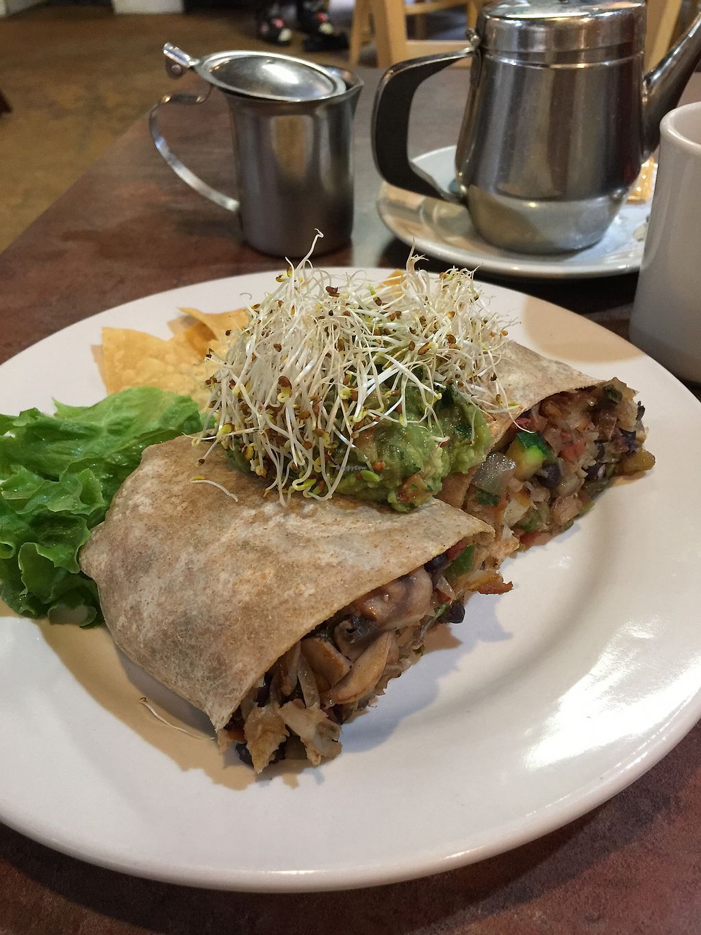 """Photo of Driftwood Cafe  by <a href=""""/members/profile/R12345"""">R12345</a> <br/>Vegan Burrito <br/> January 9, 2018  - <a href='/contact/abuse/image/36222/344583'>Report</a>"""