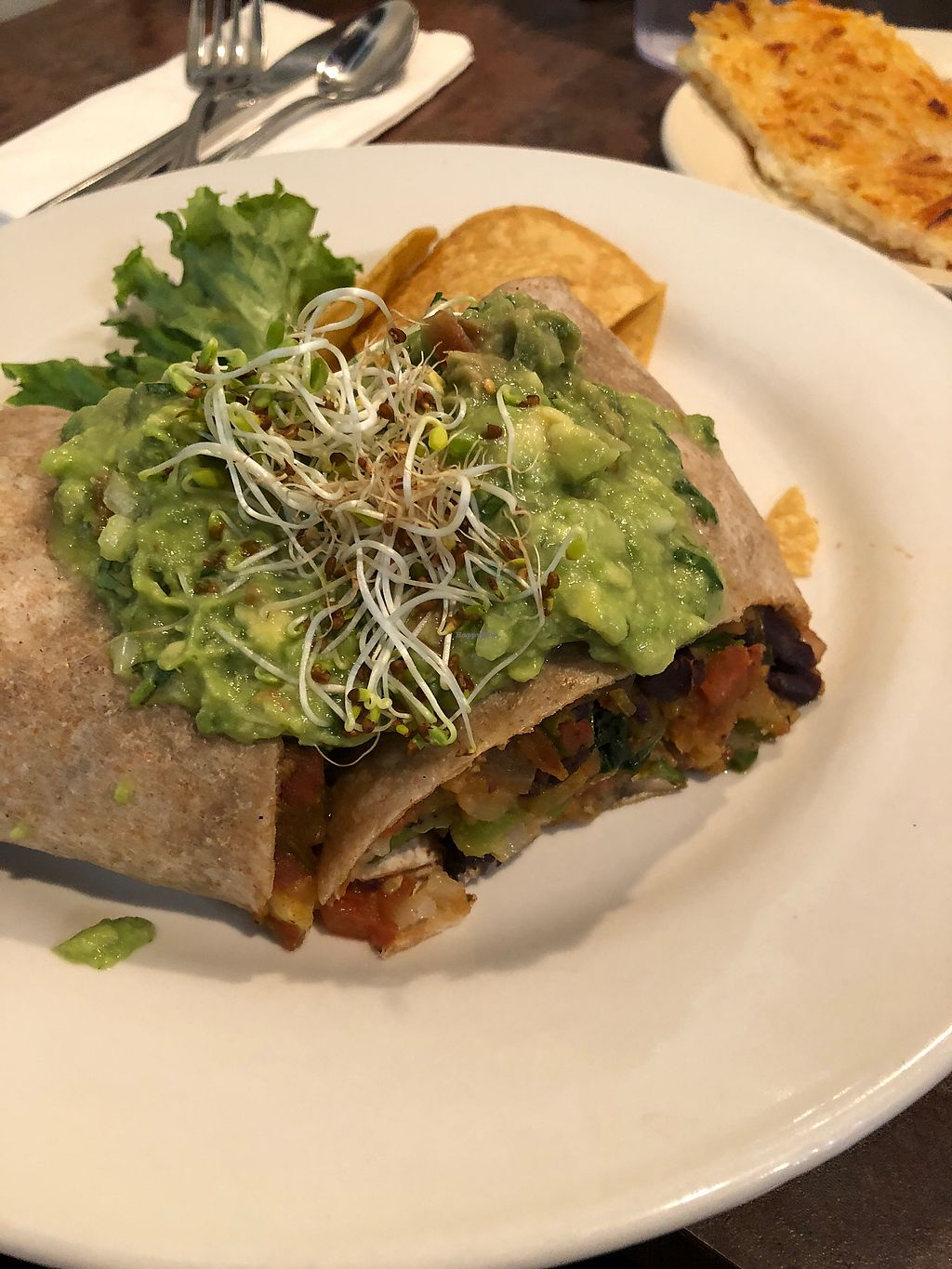 """Photo of Driftwood Cafe  by <a href=""""/members/profile/alexis17"""">alexis17</a> <br/>Tofu breakfast burrito <br/> March 18, 2018  - <a href='/contact/abuse/image/36222/372636'>Report</a>"""