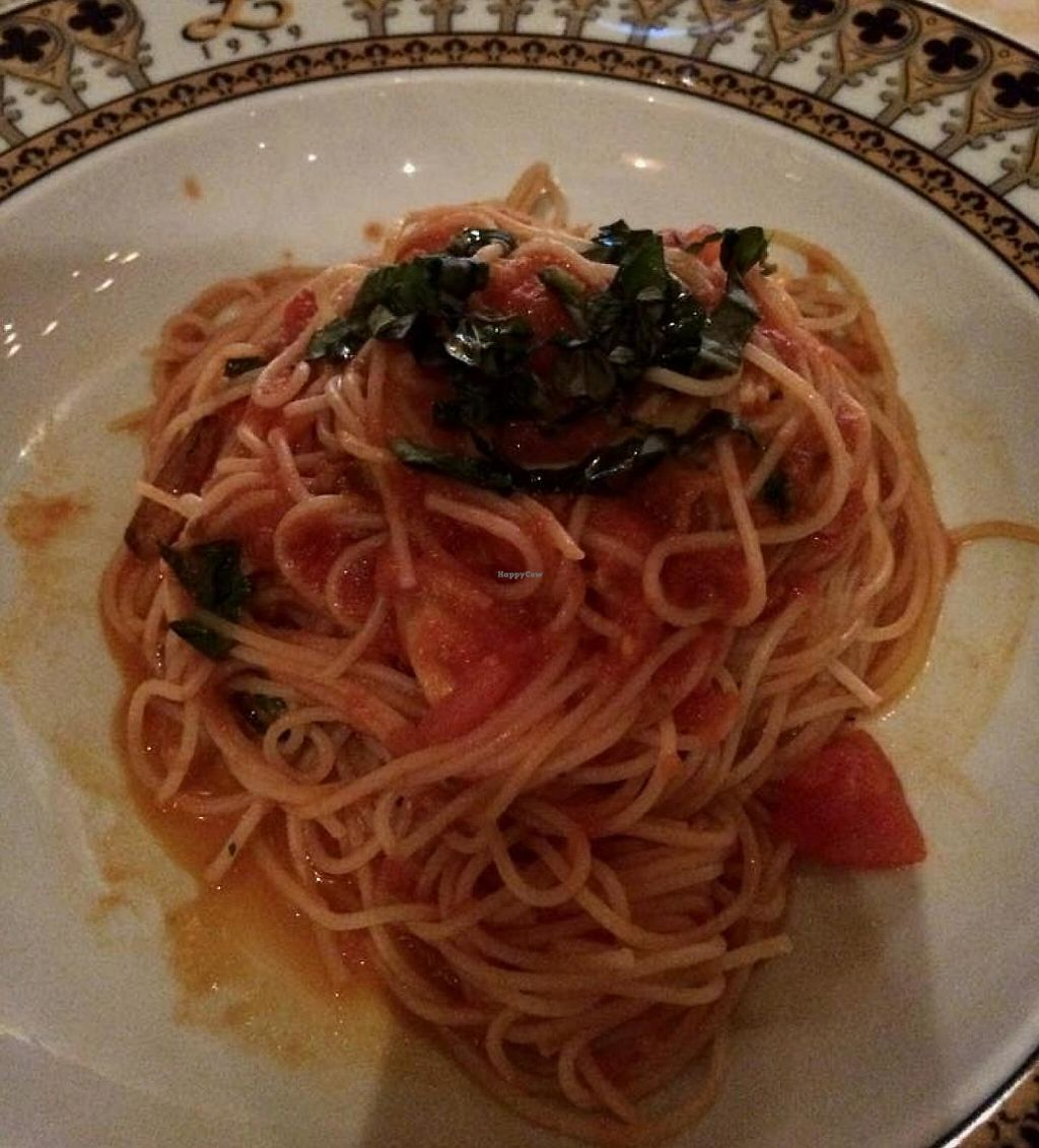 "Photo of REMOVED: Venetian Hotel - Zeffirino  by <a href=""/members/profile/Meggie%20and%20Ben"">Meggie and Ben</a> <br/>Gluten-free spaghetti with veggies, marinara sauce, and basil <br/> December 31, 2014  - <a href='/contact/abuse/image/36238/207747'>Report</a>"