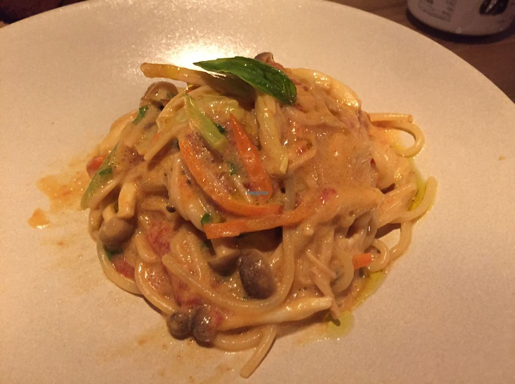 """Photo of Ukishima Garden  by <a href=""""/members/profile/SamanthaIngridHo"""">SamanthaIngridHo</a> <br/>Mushroom spaghetti with tomato cream sauce <br/> December 15, 2016  - <a href='/contact/abuse/image/36263/201128'>Report</a>"""